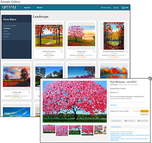Screenshot of sample gallery